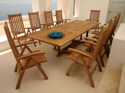 Barlow Tyrie Ascot 10 Seat Dining Set