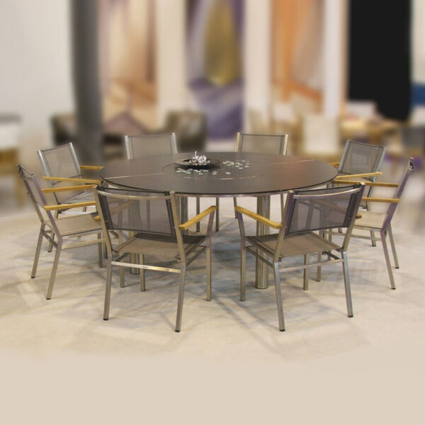 """Barlow Tyrie Equinox 71"""" Dining Table w/Laminate Top"""