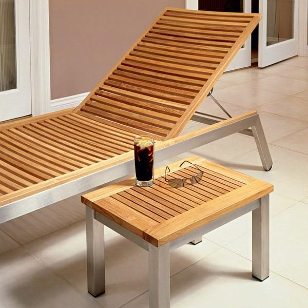 "Barlow Tyrie Equinox 19"" Lounger Side Table"
