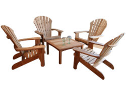 Douglas Nance Atlantic Adirondack 4 Chair Set