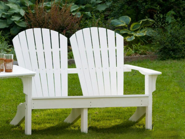 Seaside Casual Shellback Adirondack Love Seat XX020