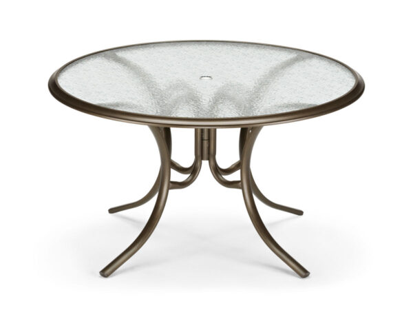 """Telescope Casual Glass Top 56"""" Dining Table w/ Ogee Rim 280X"""