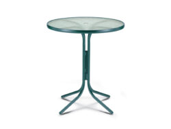 """Telescope Casual Glass Top 36"""" Bar Height Table w/ Hole 520X"""