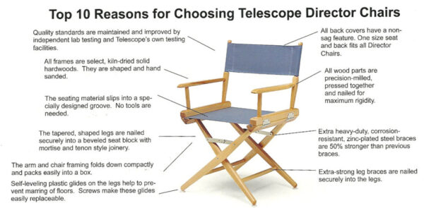 Telescope Casual Director Chair Collection