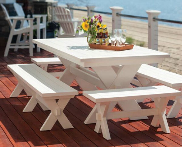 """Seaside Casual Sonoma 80"""" Gathering Dining Table"""