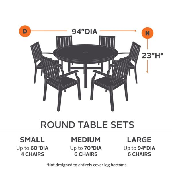 Classic Accessories Ravenna Table and Chair Cover CA-55-1XX-025101-EC