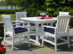 Seaside Casual Portsmouth 4 Seat Dining Set SSC-XX049SET
