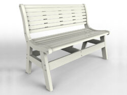 Malibu Outdoor Living Newport Garden Bench w/Back