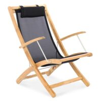 Riviera Folding Beach Chair Black