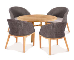 Wicker Teak Dining Set